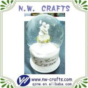 White Wedding Souvenir Water Globes