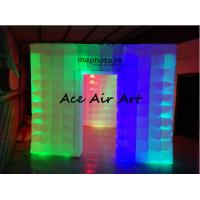 Buy cheap portable exhibition display inflatable photo booth enclosure/inflatable photo studio with led for sale product