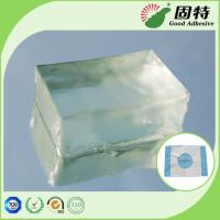 Buy cheap Fabric Block Industrial Hot Glue , Colorless Transparent Hot Glue Adhesive product