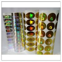 Buy cheap Adhesive Holographic label / Holographic adhesive sticker,custom holographic label with own logo product