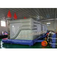 Buy cheap Gray 4 X 4m Square Inflatable Jumping Castle Kids Inflatable Bouncy Castle from Wholesalers