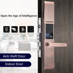 Buy cheap Zinc Alloy Semiconductor Fingerprint Door Lock Sliding Cover Type product