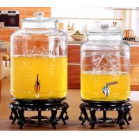 Buy cheap 5L 8L Glass Storage Jars Stainless Steel Faucet For Orgnge Juice OEM Accepted product