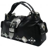 Buy cheap western crystal tote hobo with rhinestone and squre glass concho high fashion product