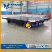 Buy cheap Heavy duty moving cargo use rail cart with bearing for workshops product
