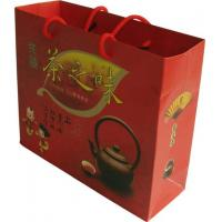 Buy cheap Red Kraft Paper Carrier Bags Color Printing Tea for Brand Shops product
