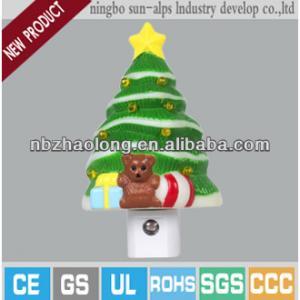 2014 new design mini led christmas tree night light with CE,UL