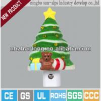 Quality 2014 new design mini led christmas tree night light with CE,UL for sale