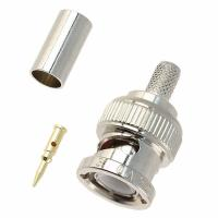 China BNC Male crimp connector for RG58,RG59,RG6, RG11 Coaxial Cable on sale