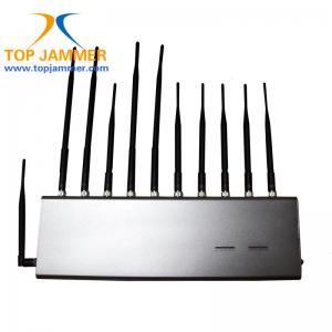 Blocker gsm | 3G Mobile Phone Jammer with Remote Control 5 Antennas 25 Meters - Desktop Jammer