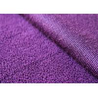 Buy cheap 160-330gsm Anti - Static Recycled Fleece Fabric Purple For Bedding Set product