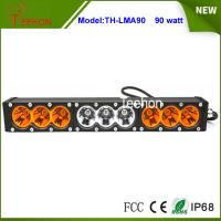 """Buy cheap 90w 16.6"""" 9-30V combo single stack offroad led light bar with amber and transparent cover product"""