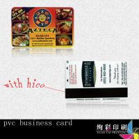 Buy cheap 0.76mm Blue PVC Magnetic Stripe Cards Offset Printing With Signature Panel product