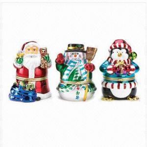 China Resin Christmas Music Box Figurines, Christmas Decoration on sale
