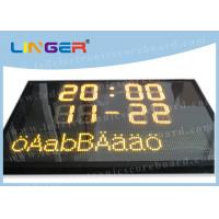Buy cheap Swedish Language Text Sign Led Electronic Scoreboard with Computer Software Controller product