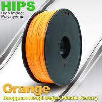 China Markerbot , Cubify  3D Printing Materials HIPS Filament 1.75mm / 3.0mm Orange Color on sale