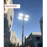 Buy cheap 9m vertical pneumatic telescopic mast lighting tower 1200W LED flood lights/ inside wires/ remote control/ tilt and turn product