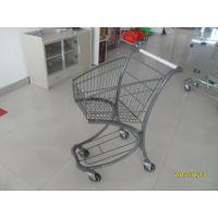Buy cheap 40L Steel Tube Airport / Supermarket Shopping Trolley With Advertisement Board product