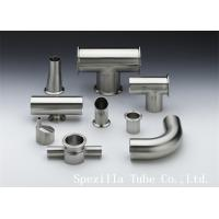 "Buy cheap TP316L EP Polished Stainless Steel Equal Tee Pipe Fittings 1"" ASME BPE from Wholesalers"