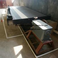 Buy cheap Mineral processing fiber glass lab sawtooth waveform gold shaker table price list product