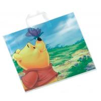 Buy cheap Biodegradable Handle Plastic Bags , Custom Carrier Bags with Pooh Print product
