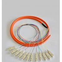 China 12 Cores Optical Fiber Patch Cord SC / UPC 1.5 Meter Fiber Optic Pigtail on sale