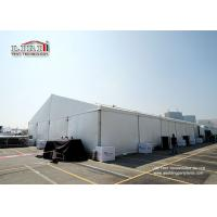 Buy cheap White Color 20m Clear Span Marquee Tent  With Block Out PVC Sidewalls For Exhibition from Wholesalers