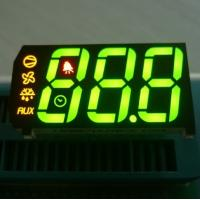 China 0.67 inch 3 Digit Seven Segment Display Common Anode Green Yellow Red on sale