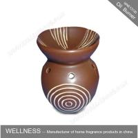Buy cheap Different Classic Shaped Ceramic Aroma Oil Burner With Spiral Pattern product