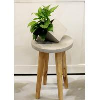 Buy cheap Disassemble concrete stool household decoration with ashtree wood legs product