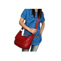 Buy cheap NEW REAL LEATHER RED SHOULDER  MESSENGER BAG product