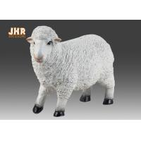 Buy cheap Life Size White Color Polyresin Animal Figurines Dolly Sheep Sculpture Garden Decor product