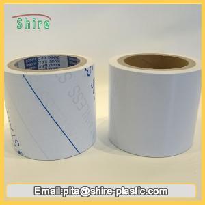 China Stainless Steel Laser Masking Film , Temporary Transparent PVC Lamination Film on sale