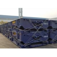 Buy cheap 50 ft Flatbed Container Trailers / Gooseneck Mafi Roll Trailer With 70T Capacity product