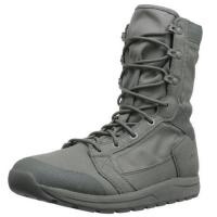 "Buy cheap Mens Tachyon 8"" Military Boots Soft Black Cow Leather Slip - Resistant Outsole product"