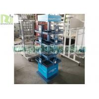 China Metal Wire Display Racks Custom 4 Sides 4 Wheels Rotatable With SGS Approval on sale