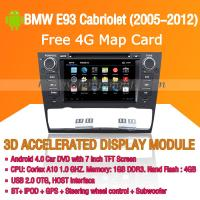 Buy cheap Android Car DVD Player GPS Navigation Wifi 3G for BMW E93 2005-2012 Bluetooth Touch Screen product