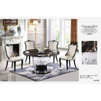 Buy cheap club 8 persons round dining marble table with Lazy Susan product