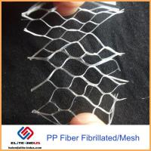 China 100% Fibrillated Polypropylene Fibers , PP Fiber Concrete For Waterproof Layer / Floor on sale