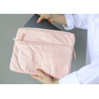 China 13 Inch 135g Laptop Carrying Case Tearproof Recyclable Pink / Khaki Color on sale