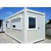China White Color Flat Pack Container House With Roller Shutter Window For Holiday on sale