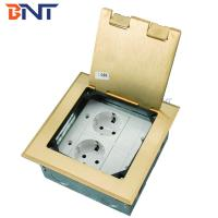 Buy cheap gold double EU power flip up floor socket outlet box product
