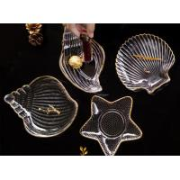 China Shell Shape Clear Glass Fruit Bowl / Small Glass Fruit Dishes Eco - Friendly on sale