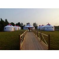 Buy cheap Heavy Duty All Season Mongonlian Yurt Tent 4 Layer Double PVC Coating Fabric from Wholesalers