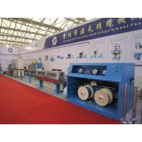 China Pipe Production Line Pvc Wire Coating Machine 250m Accumulator Length Fold W type / U type Cooling on sale