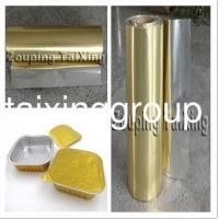 Buy cheap Golden Aluminium Foil With PP Film For Food Container product