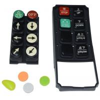 Black Tv Remote Control Buttons , Carbon Pill Keypad With Spraying Coating PU Coating