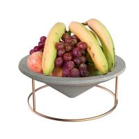 Buy cheap Cone plated wire rack Concrete tray home decoration for food , fruit product