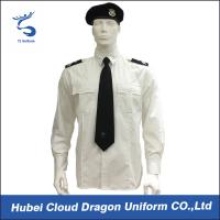 Buy cheap White Color Breathable Security Guard Shirts With Two Front Chest Pockets / Pen Slot product