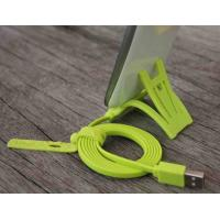 Buy cheap Green TPE HTC Cell Phone Powered Micro USB Data Cable 2.0 With Sync Data product